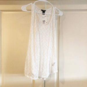 Sheer White Tribal Print H&M Tank